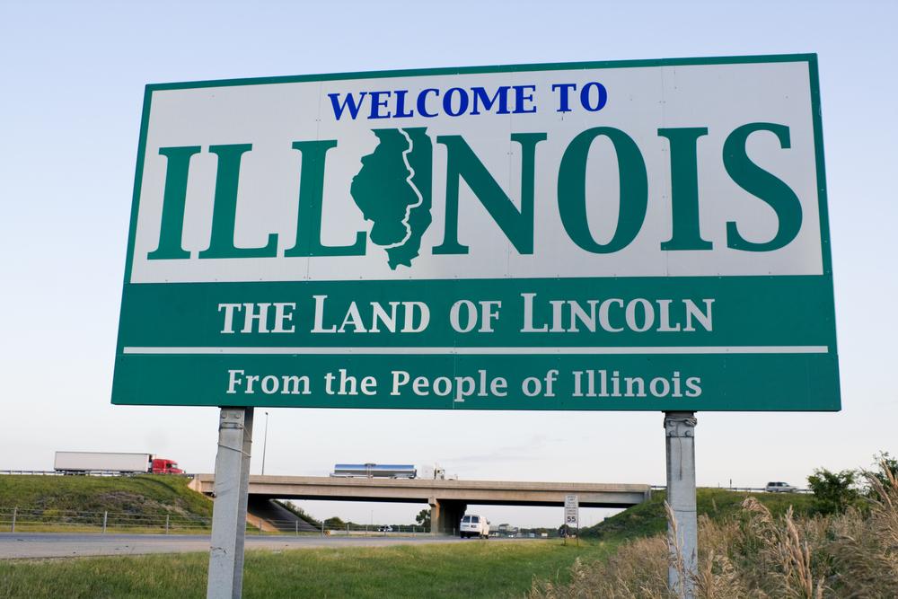 Illinois state sign