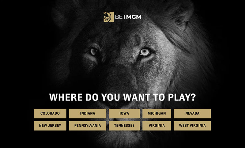 BetMGM Home Page