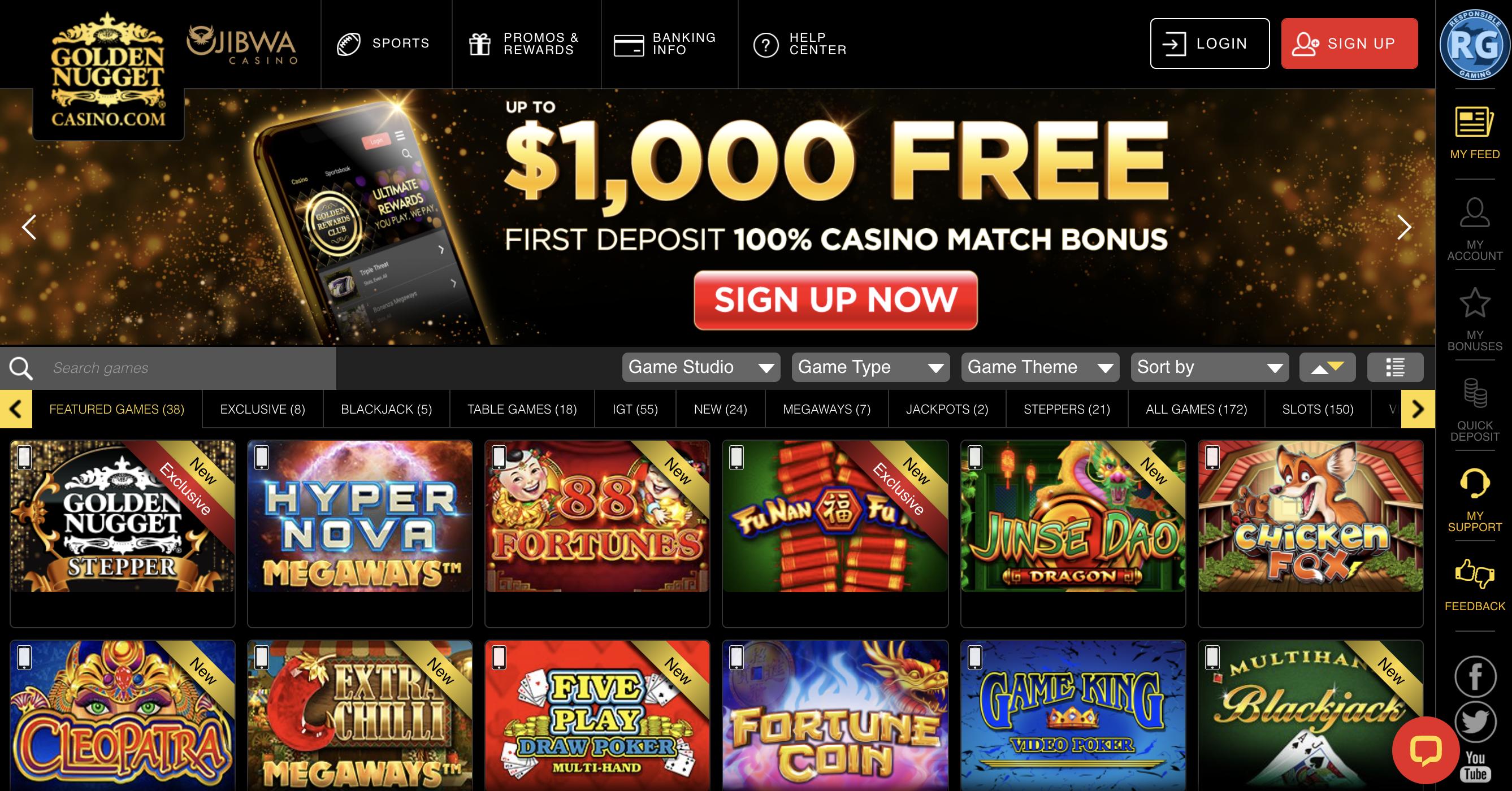 Golden Nugget MI Casino